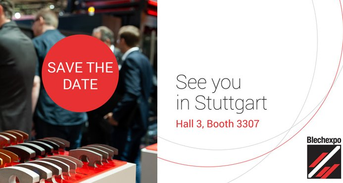 Visit AMADA from the 5th – 8th November at the Blechexpo: hall 3, booth 3307